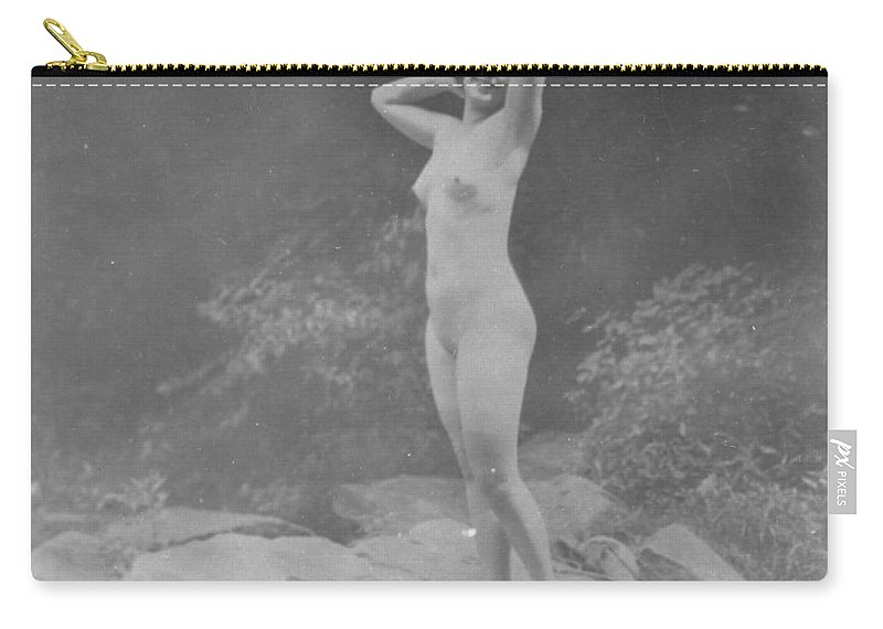 19th Century Carry-all Pouch featuring the photograph Nude Outdoors, 19th Ct by Granger