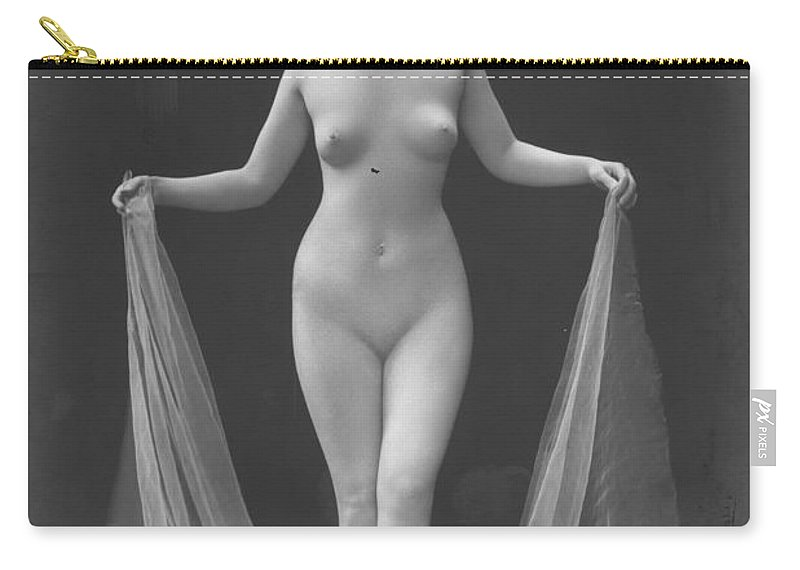 1921 Carry-all Pouch featuring the photograph Nude Posing, 1920s by Granger