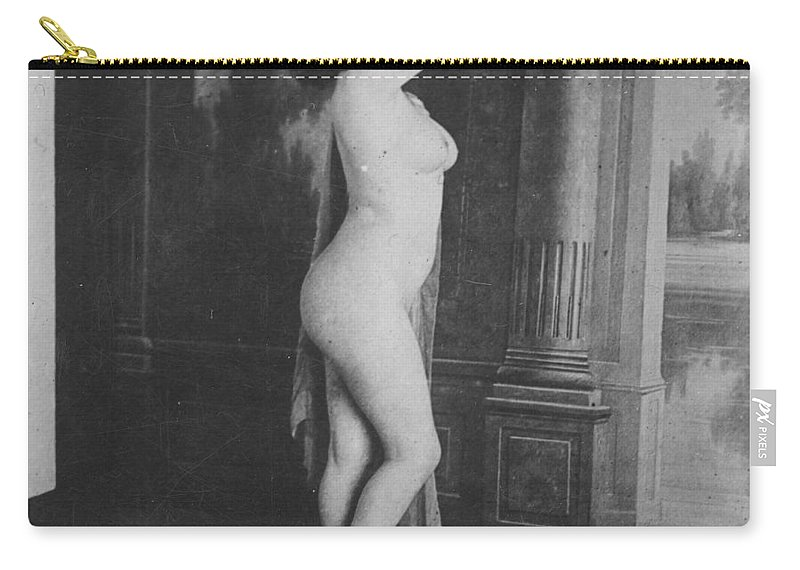 19th Century Carry-all Pouch featuring the photograph Nude Posing, 19th Ct by Granger