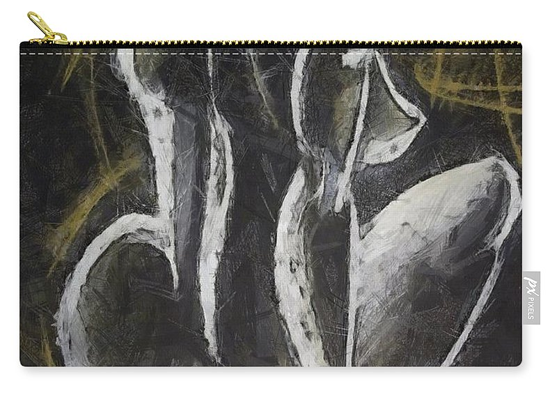 Female Nude Carry-all Pouch featuring the drawing Nude Vii by Dragica Micki Fortuna
