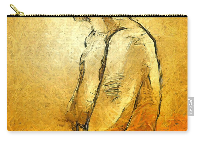 Nude Carry-all Pouch featuring the painting Nude Viii by Dragica Micki Fortuna