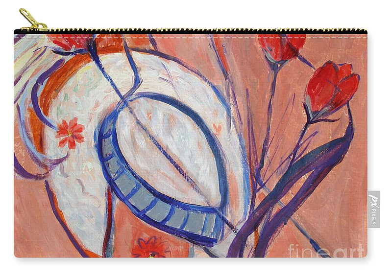 Nude Painting Carry-all Pouch featuring the painting Nude With A White Hat by Avonelle Kelsey