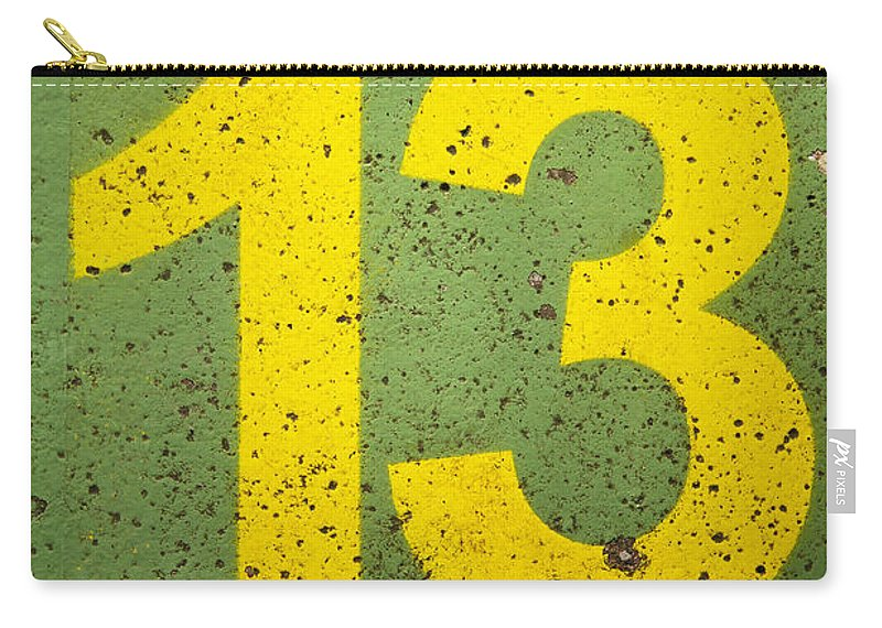 Carry-all Pouch featuring the photograph Number 13 by Chevy Fleet