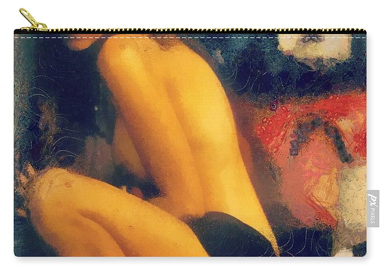 Woman Carry-all Pouch featuring the painting Number 5 by Janice MacLellan