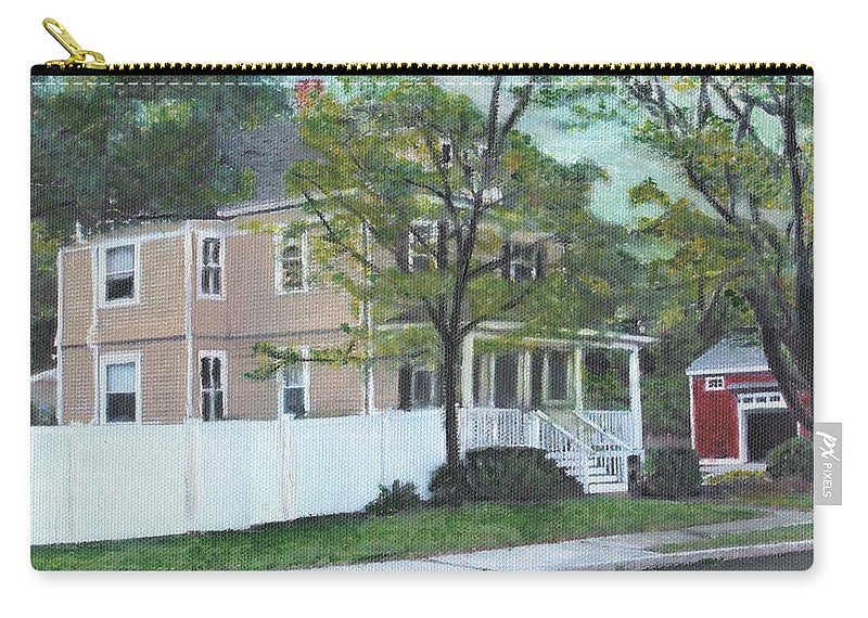 Architecture Carry-all Pouch featuring the painting Number One Main Street by Cliff Wilson