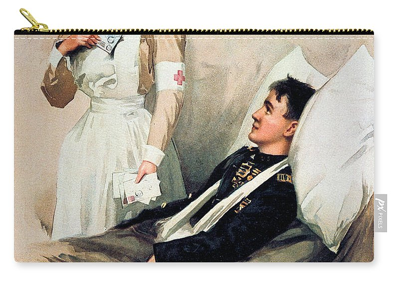 1899 Carry-all Pouch featuring the photograph Nurse: Calendar, 1899 by Granger