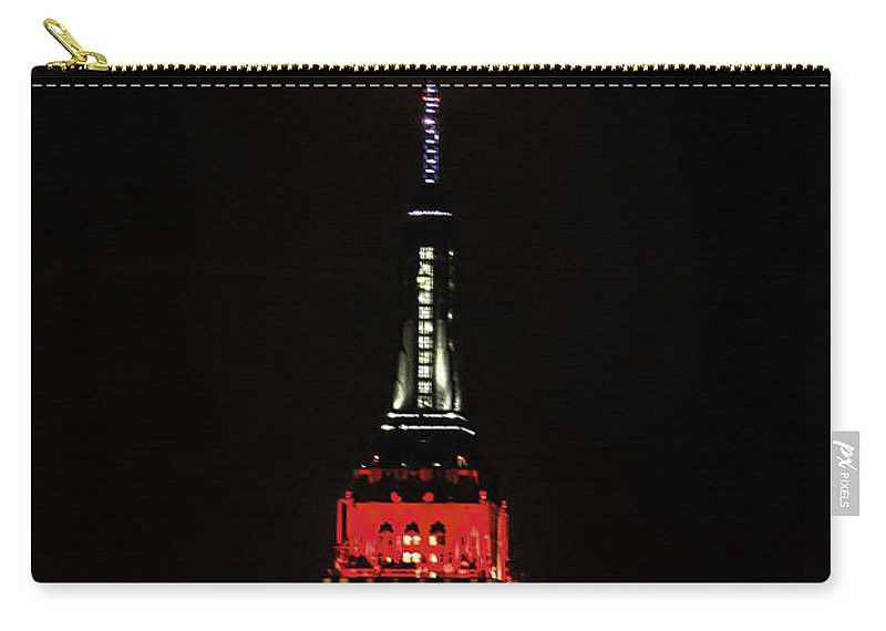 Germany Colors World Cup Carry-all Pouch featuring the photograph Nyc Moonstruck For World Cup by Regina Geoghan