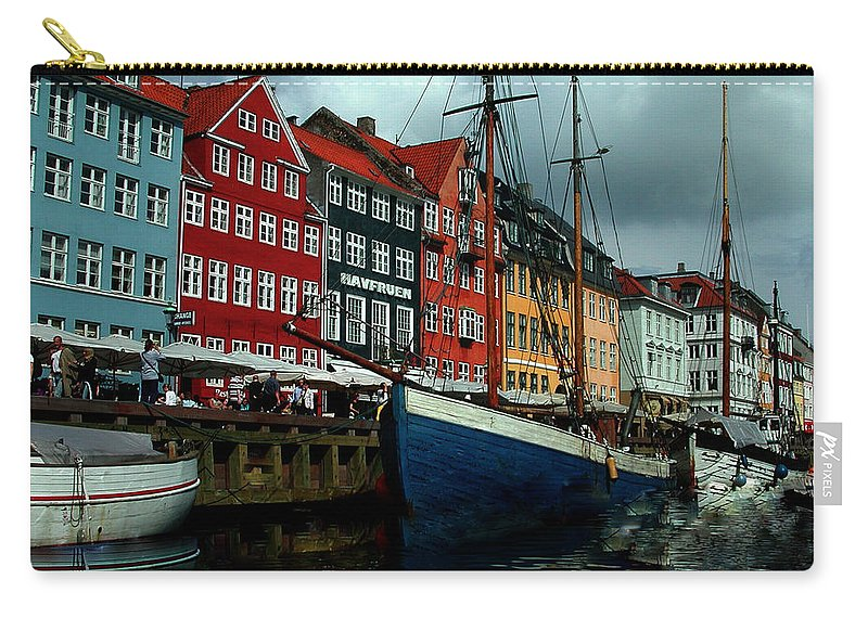 Colette Carry-all Pouch featuring the photograph Nyhavn Copenhagen by Colette V Hera Guggenheim
