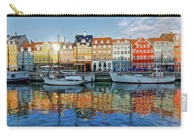 Copenhagen Carry-all Pouch featuring the photograph Nyhavn, Copenhagen, Denmark by Kateryna Negoda