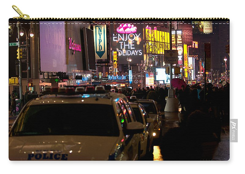 """""""new York City"""" Carry-all Pouch featuring the photograph Nypd by Paul Mangold"""
