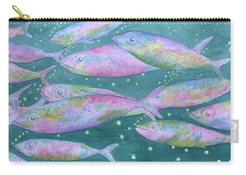 Oahu Carry-all Pouch featuring the painting Oahu Tiny Bubbles by Rhonda Leonard