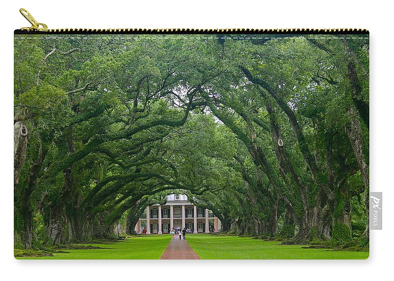 Tree Carry-all Pouch featuring the photograph Oak Alley Plantation by Denise Mazzocco