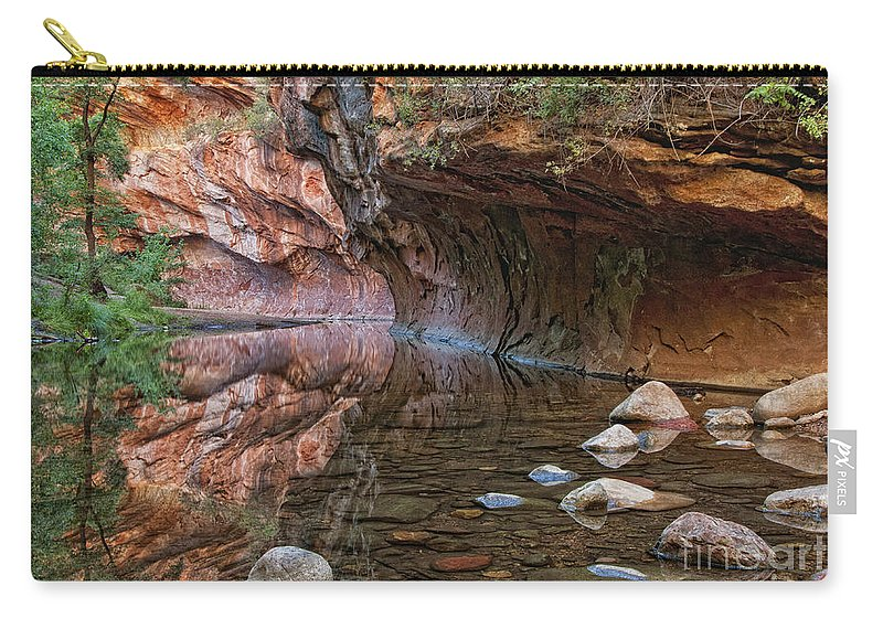 River Carry-all Pouch featuring the photograph Oak Creek by Claudia Kuhn