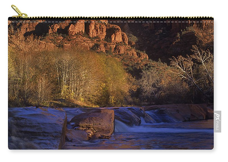 North America Carry-all Pouch featuring the photograph Oak Creek Crossing Sedona Arizona by Dave Welling