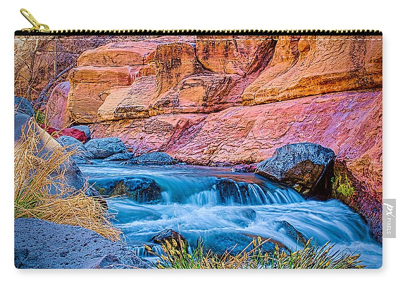 Fred Larson Carry-all Pouch featuring the photograph Oak Creek In The Spring by Fred Larson