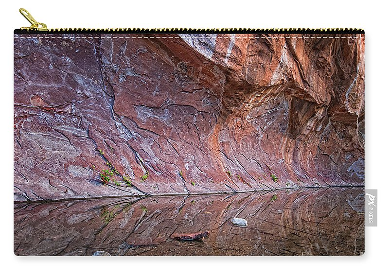 Arizona Carry-all Pouch featuring the photograph Oak Creek Reflection by Claudia Kuhn