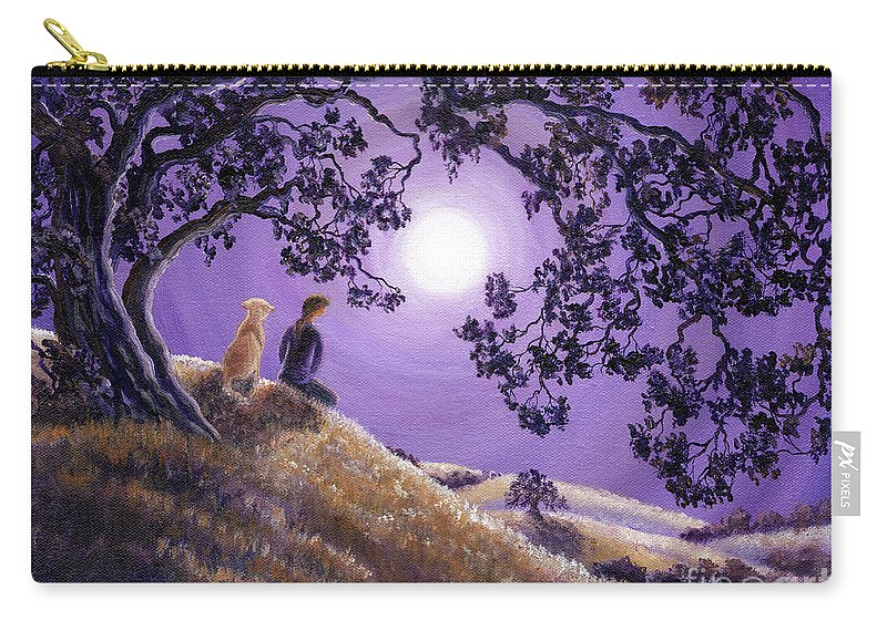 Zen Carry-all Pouch featuring the painting Oak Tree Meditation by Laura Iverson