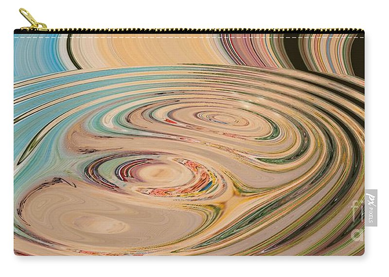 Abstract Carry-all Pouch featuring the painting Oasis by Loredana Messina