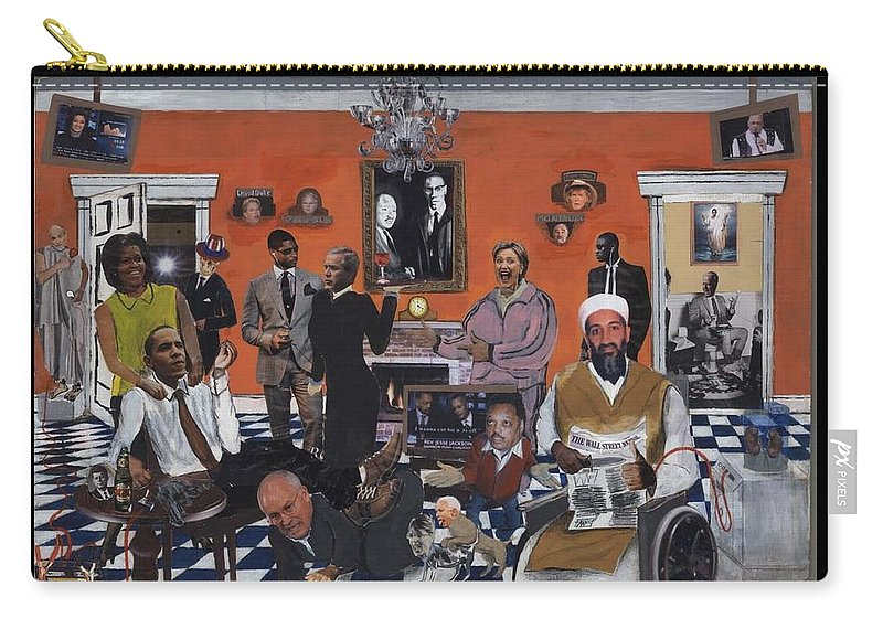 Obama Carry-all Pouch featuring the mixed media Obama Nation by Reginald Williams