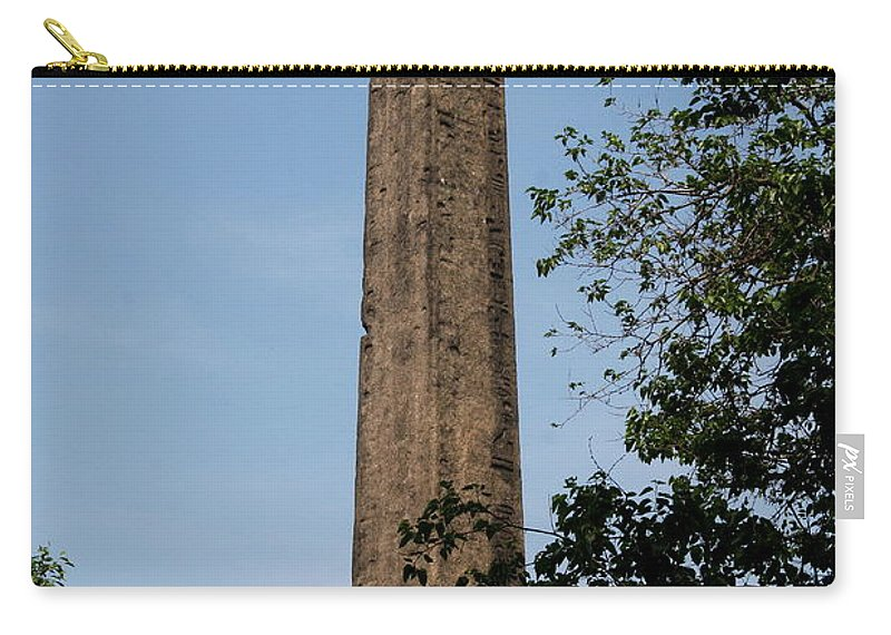 Obelisk Carry-all Pouch featuring the photograph Obelisk - Central Park Nyc by Christiane Schulze Art And Photography