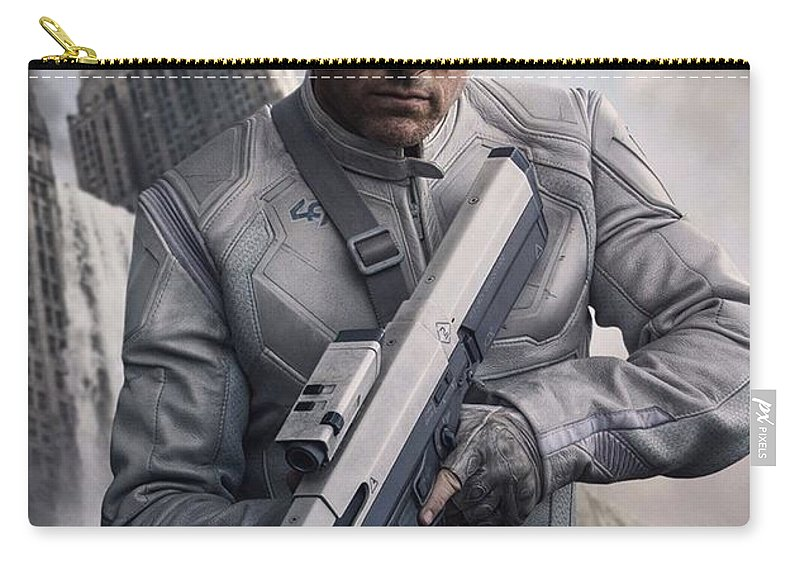 Oblivion Carry-all Pouch featuring the photograph Oblivion Tom Cruise by Movie Poster Prints