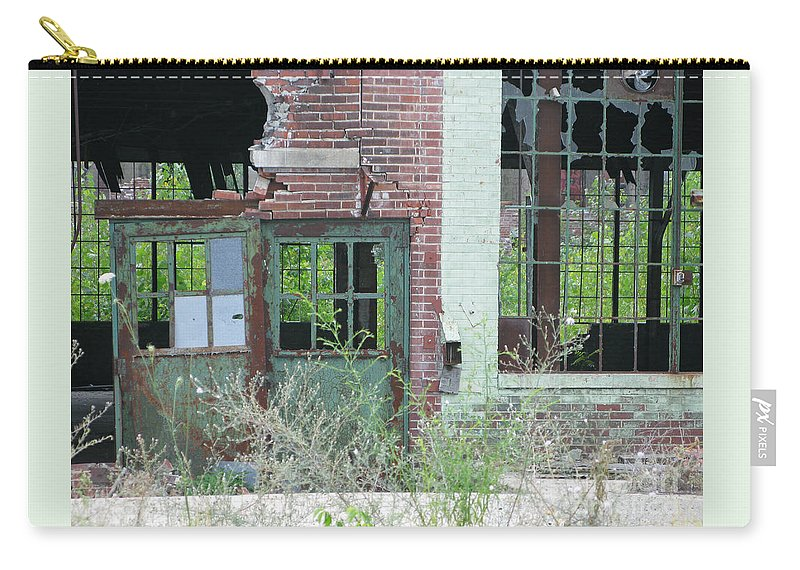 Factory Carry-all Pouch featuring the photograph Obsolete by Ann Horn