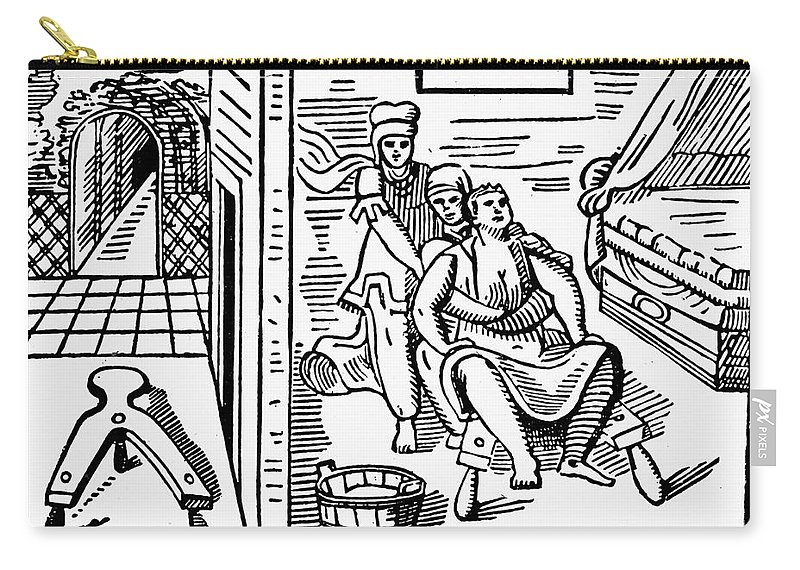 15th Century Carry-all Pouch featuring the photograph Obstetrical Chair by Granger