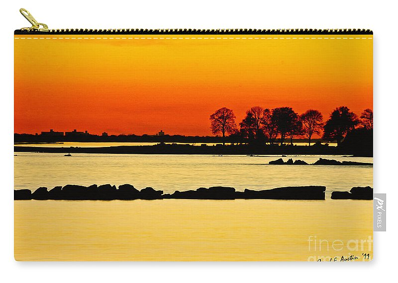 Sunset Carry-all Pouch featuring the photograph Orange Sunset by Carol F Austin