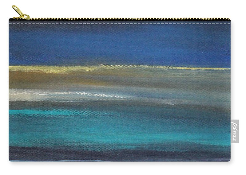 Abstract Painting Carry-all Pouch featuring the painting Ocean Blue 2 by Linda Woods