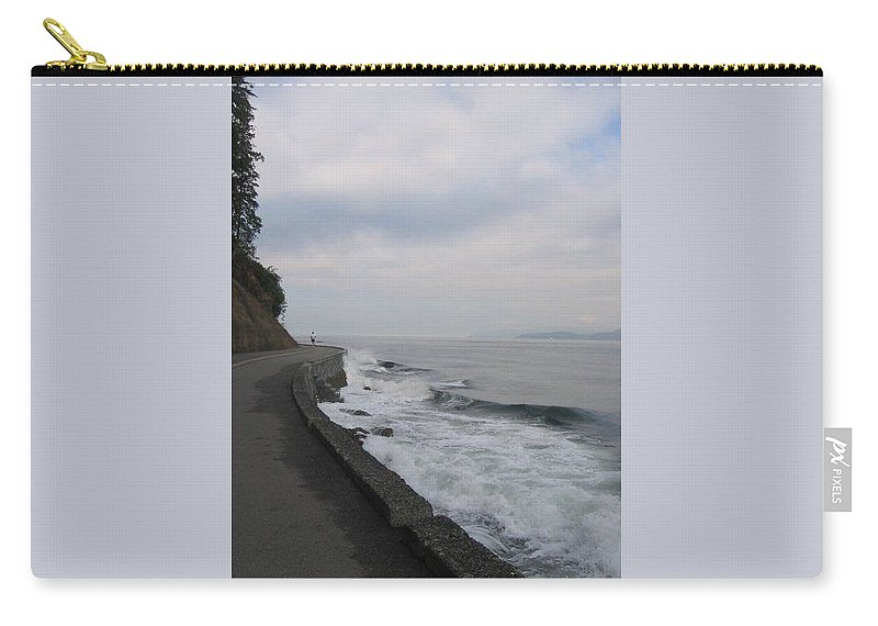 Ocean Carry-all Pouch featuring the photograph Ocean Break by Stephanie Bland