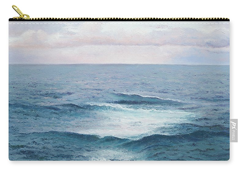 Ocean Carry-all Pouch featuring the painting Ocean By Jan Matson by Jan Matson