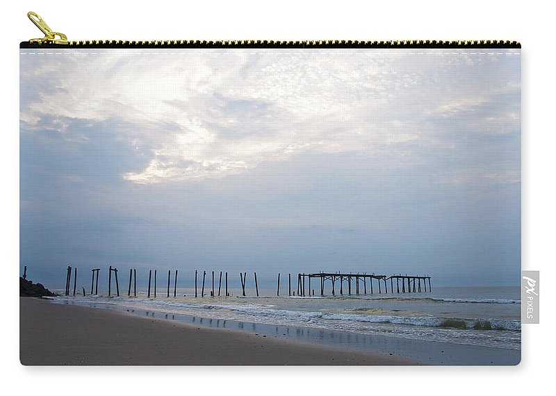 Ocean City At The 59th Street Pier Carry-all Pouch featuring the photograph Ocean City At The 59th Street Pier by Bill Cannon