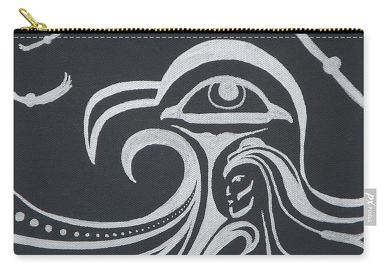 Abstract Carry-all Pouch featuring the painting Ocean Eagle Eye by A Cyaltsa Finkbonner