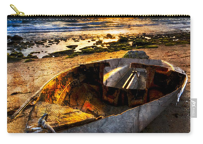 Boats Carry-all Pouch featuring the photograph Ocean Salty by Debra and Dave Vanderlaan
