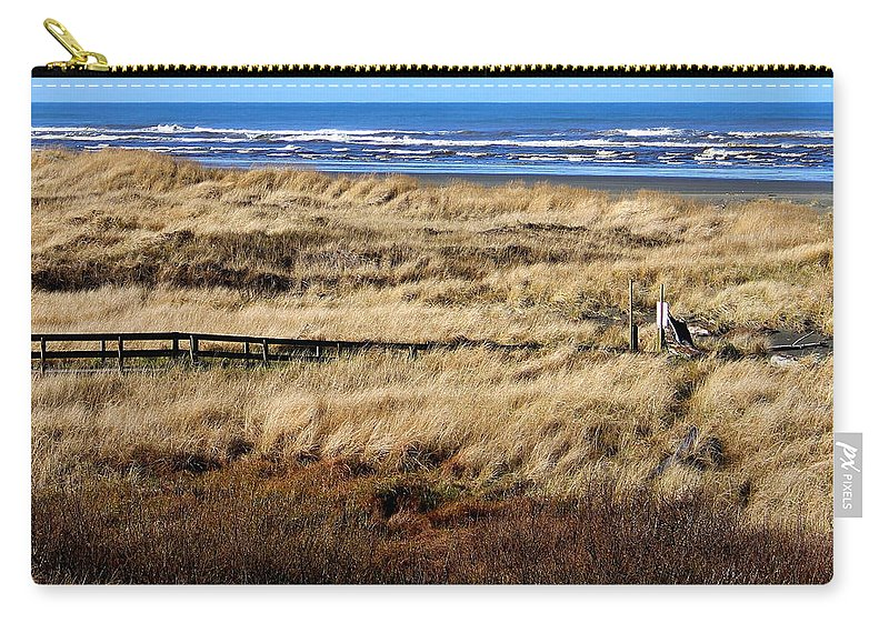 Ocean Carry-all Pouch featuring the photograph Ocean Shores Boardwalk by Jeanette C Landstrom