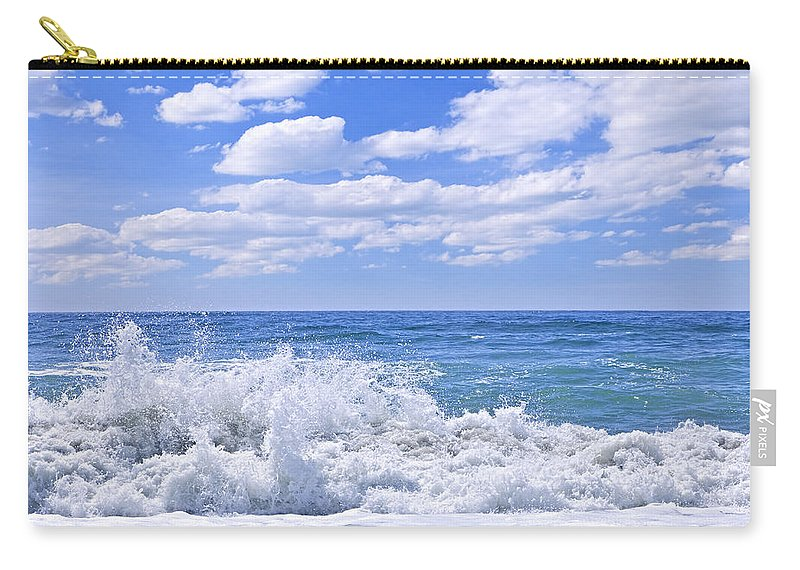 Surf Carry-all Pouch featuring the photograph Ocean Surf by Elena Elisseeva