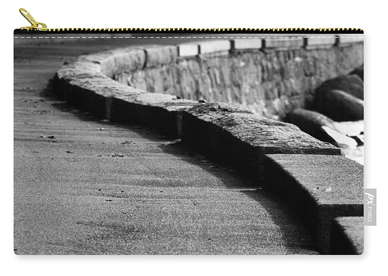 Ocean Wall Carry-all Pouch featuring the photograph Ocean Walk by The Artist Project