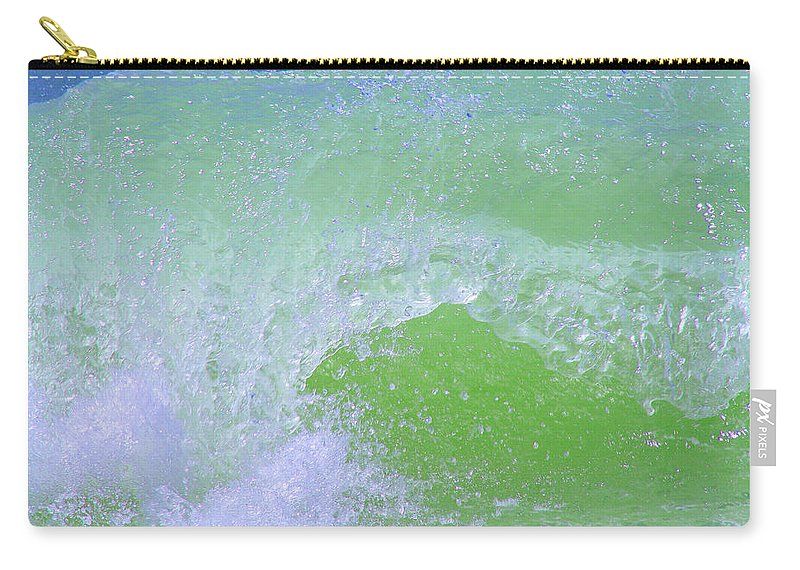 Water Carry-all Pouch featuring the photograph Ocean Wave by Karen Adams