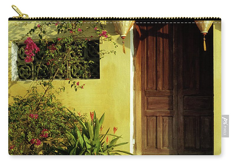 Vietnam Carry-all Pouch featuring the photograph Ochre Wall 01 by Rick Piper Photography