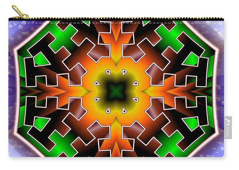Fractal Illustration Carry-all Pouch featuring the digital art Octo Speculation by Mario Carini