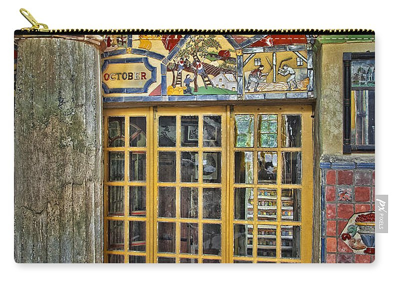 Byzantine Carry-all Pouch featuring the photograph October At Fonthill Castle by Susan Candelario