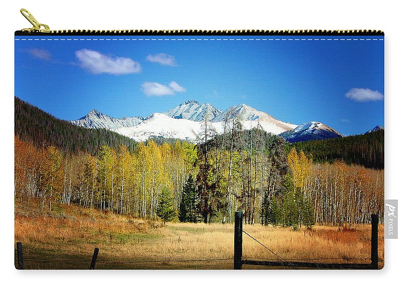 Fall Carry-all Pouch featuring the photograph October Day by Ellen Heaverlo