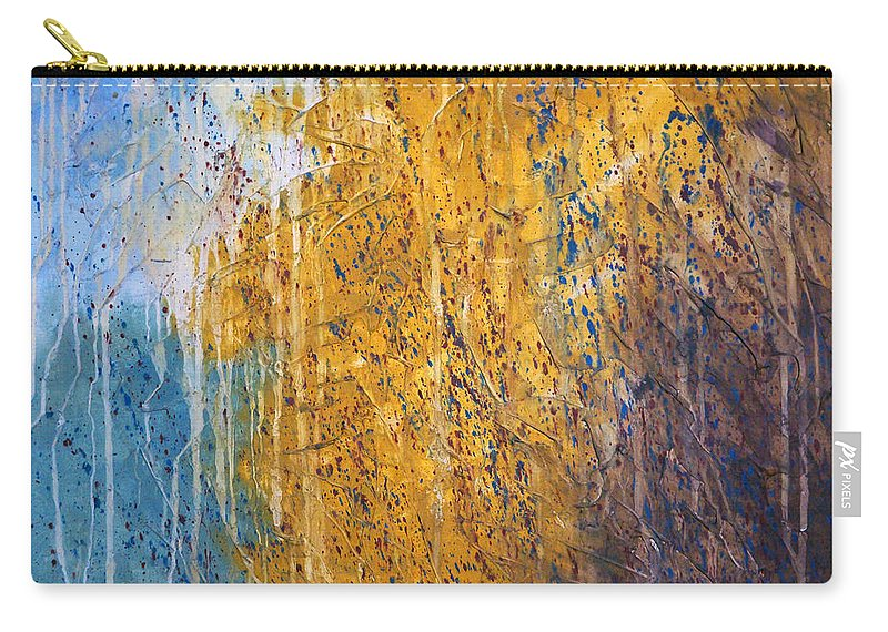 Landscape Carry-all Pouch featuring the painting October by Sergey Bezhinets
