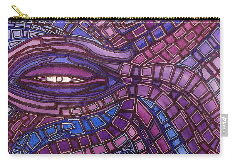 Octopus's Eye Carry-all Pouch featuring the painting Octopus Eye by Barbara St Jean