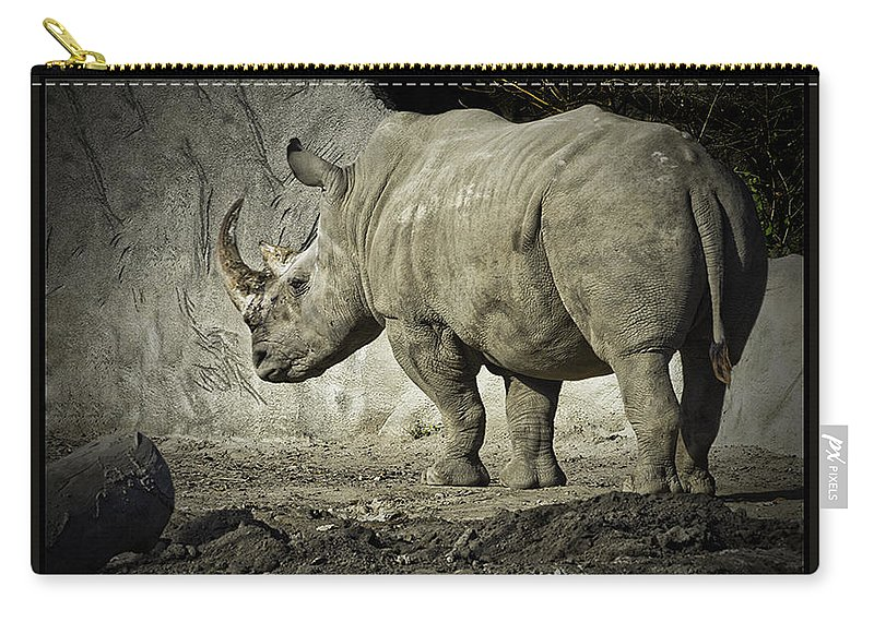 Usa Carry-all Pouch featuring the photograph Odd-toed Rhino by LeeAnn McLaneGoetz McLaneGoetzStudioLLCcom