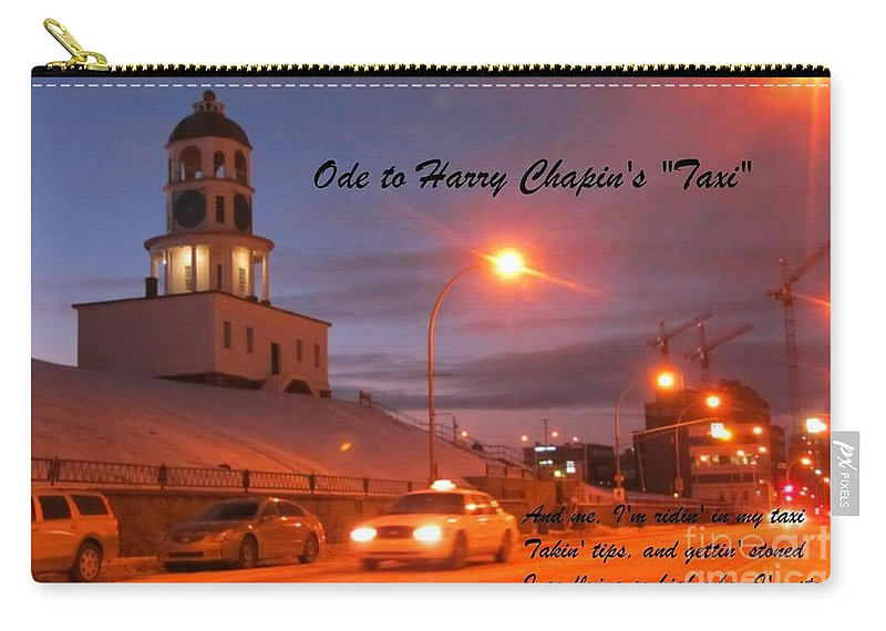 Ode To Harry Chapins Taxi Carry-all Pouch featuring the photograph Ode To Harry Chapins Taxi by John Malone