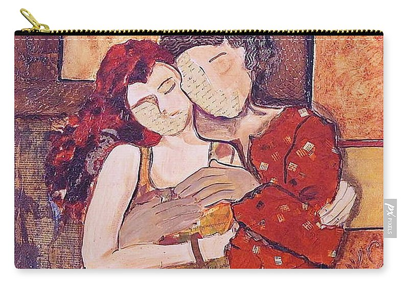 Man Carry-all Pouch featuring the painting Ode To Klimt by Debi Starr
