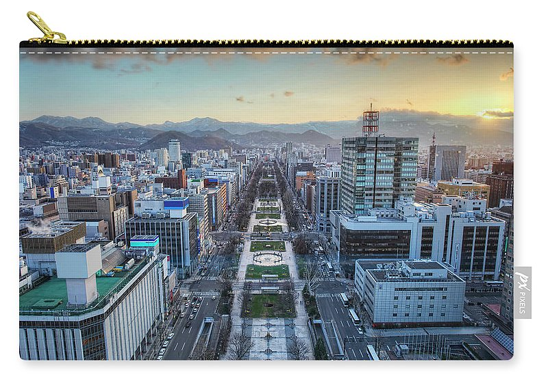 Hokkaido Carry-all Pouch featuring the photograph Odori Park Sunset by Daniel Chui