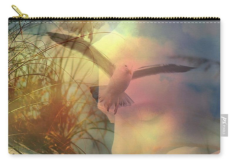 Of Lucid Dreams / Dreamscape 12 Carry-all Pouch featuring the digital art Of Lucid Dreams / Dreamscape 12 by Elizabeth McTaggart