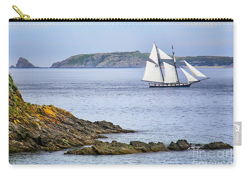 Sailboat Carry-all Pouch featuring the photograph Off Saint-malo by Nikolyn McDonald